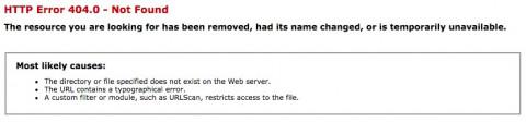 Fehlerseite 404 ohne Navigation